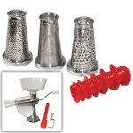 Weston Food Strainer & Sauce Maker Accessory Kit – 4 pc