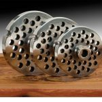 22 Stainless Steel Grinder Plate with Hub – 3/16″