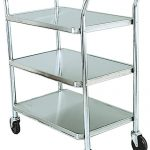 Adcraft Cart Utility S/S 3 Shelves