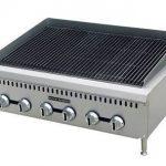 Adcraft Blk Diamond 48″ Hvy Dty Gas Charbroiler 8 Burner NG BDCTC-48