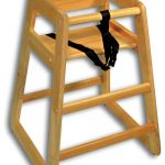 Adcraft High Chair Wood Natural Set-Up