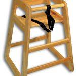 Adcraft High Chair Wood Natural Set-Up