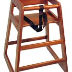 Adcraft High Chair Wood Mahogany Setup