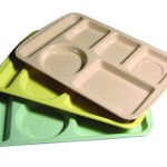 Adcraft Trays 6 Compt Melamine Green