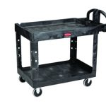 Adcraft Cart 2 Shelves 16″ X 30″ Black