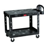 Adcraft Cart Flat Shelf Black