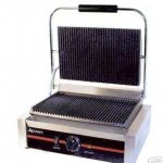 Adcraft Sandwich grill w/Grooved Plates