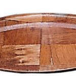 Adcraft Platters Oval W/Wood 10″ X 7″
