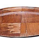 Adcraft Platters Oval W/Wood 10″ X 7″