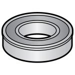 Hobart Ball Bearing Rear Knife Shaft/Parts for Hobart Food Cutters