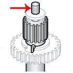 Hobart Steel Transmission Shaft (15T) Transmission Gear Unit for Hobart Models A120 and A200 Mixers