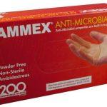 AMMEX Anti Microbial Vinyl Powder Free Gloves Medium