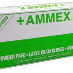 AMMEX AMMEX, Powder Free Latex, Natural 5 mil Large
