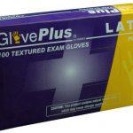 AMMEX GlovePlus, Powdered Latex Gloves 4 mil Large