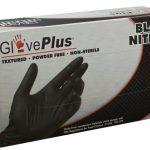 AMMEX GlovePlus, Powder Free Black Nitrile 5 mil Medium