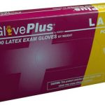 AMMEX GlovePlus, Powder Free Latex Gloves 4 mil X-Small