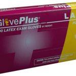 AMMEX GlovePlus, Powder Free Latex Gloves 4 mil Large