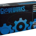AMMEX Gloveworks, Nitrile Powdered Gloves 5 mil Medium
