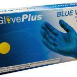AMMEX GlovePlus, Powder Free Blue Vinyl Gloves 4 mil Medium