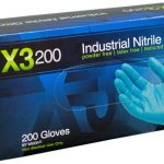 AMMEX X3D, 200 count 3 mil Nitrile Powder Free Gloves Medium