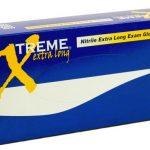 AMMEX Xtreme Nitrile extra long, 5 mil powder free 4 mil Medium