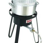 Bayou Classic Alum Fry Pot, Cooker, 10 psi, Therm