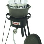 Bayou Classic Cast Iron Fry Pot, Cooker, 10 psi, Therm