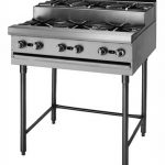 Blodgett Open Top Burners, Two 12? step up burners on a 12? wide modular base