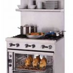 Blodgett 36″ wide single deck stainless steel tubular high shelf