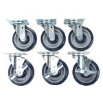 Bakers Pride Casters, set of 6 (3 w/brakes and 3 w/out), for 60″ ranges