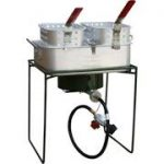 Sportsman Series Double Basket Outdoor Cooker & Fryer with Single Burner