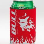 Bull Outdoor Bull Can Koozies Red
