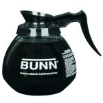 BUNN Decanter, Glass-Blk 12Cup 1Pk