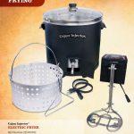 Cajun Injector 30 Quart Electric Turkey Fryer (Blue LED)