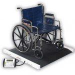 Cardinal Detecto portable bariatric wheelchair scale 1000 lb x .5 lb/450 kg x .2 kg