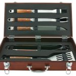 Mr. BBQ 5 Pc Forged Set In Wood Carrying Case