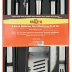 Mr. BBQ 5 Pc Oval Stainless Steel Tool Set
