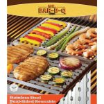 Mr. BBQ Stainless Steel Dual Sided Reusable Bbq Sheet