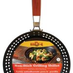 Mr. BBQ Deluxe Non-Stick Skillet, W/Folding Hardwood Stay Cool Handle