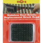 Mr. BBQ Replacement Brush Head, Stainless Steel Bristles