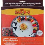 Mr. BBQ Non-Stick Solid Triangle Plate Kabob, Set Of 4 Kabobs
