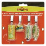 Mr. BBQ Mixed Bbq Themed Shaped Tablecloth Weights, 4 Pcs