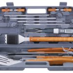 Mr. BBQ 12 Pc Tool Set With Plastic Case & Thermo Fork