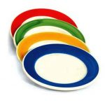 Crestware Re44 9″ Plate W/ Yellow Rim