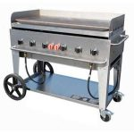 Crown Verity Mobile Outdoor Griddle 48″ – Nat Gas.