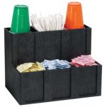 Dispense Rite Six section cup, id, condiment and straw organizer