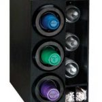 Dispense Rite Countertop Cup Dispensing Cabinet with (3) STL-2F – Black Polystyrene