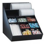 Dispense Rite Countertop lid, straw & condiment organizer – Wide, Model# WLO-1B