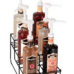Dispense Rite Six compartment wire rack bottle organizer