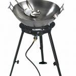 Eastman Outdoors 22″ Carbon Steel Wok Kit w/Big Kahuna Burner